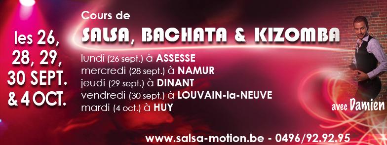 Cours Salsa, Bachata, Kizomba 2016